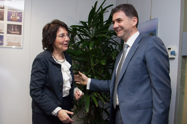 Commissioner Maria Damanaki met Petar Ivanović, Montenegrin Minister for Agriculture and Rural Development