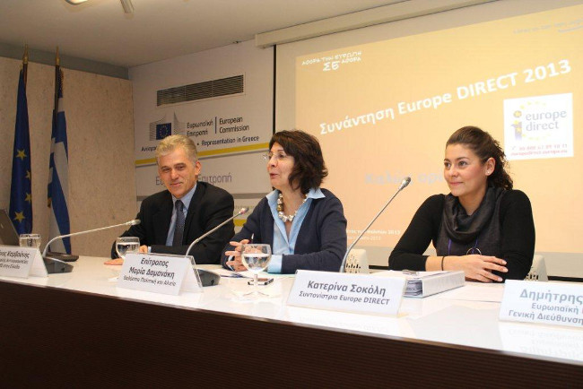 Commissioner Maria Damanaki addressed the participants in the Seminar of European Direct Information Network