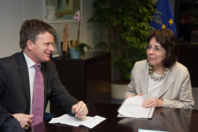 Commissioner Maria Damanaki met with Richard Benyon, British Parliamentary Under-Secretary of State in charge of Natural Environment and Fisheries
