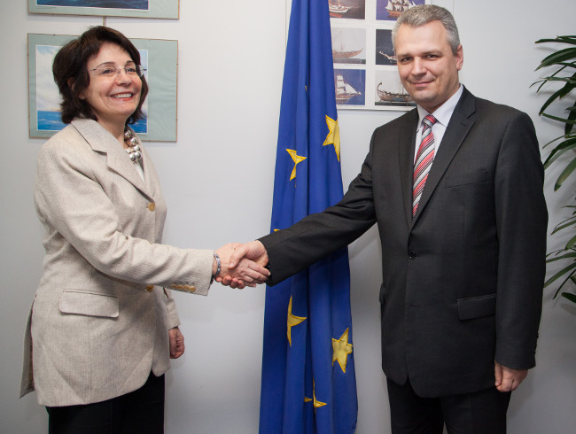 Commissioner Damanaki met with Mr Vigilijus JUKNA, Lithuanian Minister of Agriculture