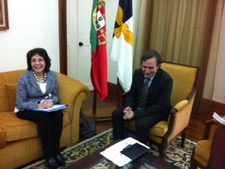 Commissioner Maria Damanaki met with Mr Vitor Fraga, regional Secretary of Transports and Tourism