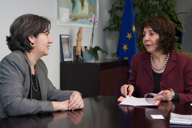 Commissioner Maria Damanaki met with Mirtha María Hormilla Castro, Head of the Mission of Cuba to the EU