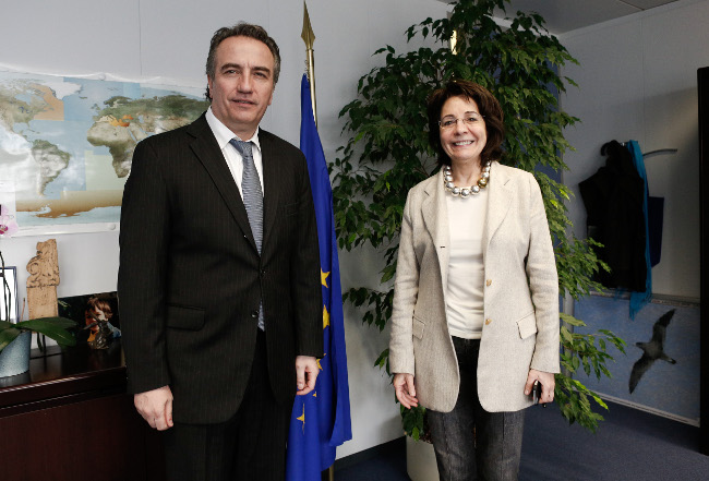 Commissioner Maria Damanaki met with Mr Stavros Kalafatis, Greek Alternate Minister for Environment, Energy and Climate Change
