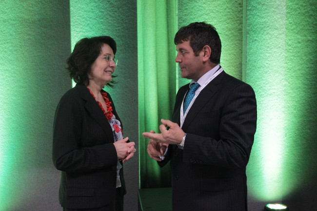 Commissioner Maria Damanaki and Mr Andrew Doyle TD, Chairman of the Joint Oireachtas Committee on Agriculture, Food and the Marine