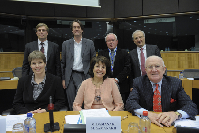 Commissioner Damanaki and the speakers at the ALDE Seminar; The Marine Food Chain: Better Management for New Challenges