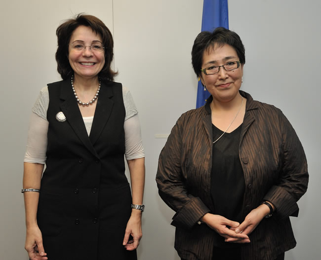 14/02/2010: Maria Damanaki receives Ane Hansen, Greenlandic Minister for Fisheries, Hunting and Agriculture