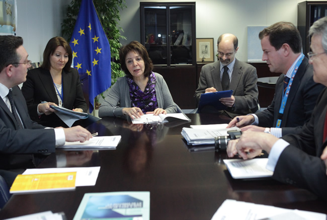 Commissioner Maria Damanaki receives representatives from CEPESCA (Spanish Fishing Federation)