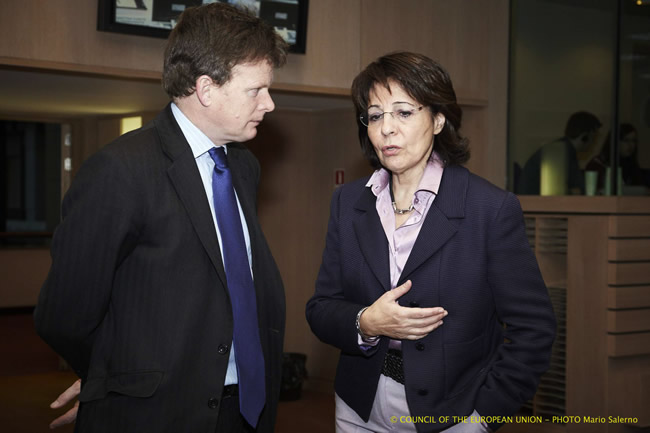 Mr Richard Benyon, Fisheries Minister of the United Kingdom and Commissioner Maria Damanaki