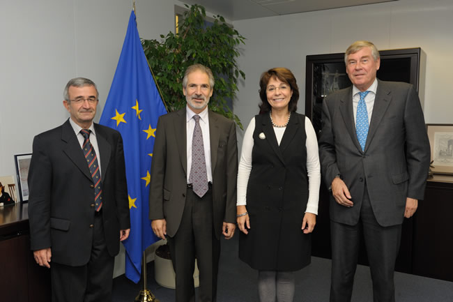 Maria Damanaki, Member of the EC in charge of Maritime Affairs and Fisheries receives a delegation from the European Community Shipowners' Associations (ESCA)