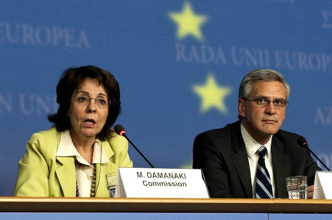 Maria Damanaki, Member of the EC in charge of Maritime Affairs and Fisheries with ...