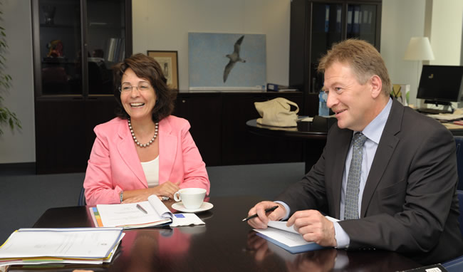 12/07/2010:  Maria Damanaki receives Jacob Vestergaard, Faeroese Minister for Fisheries
