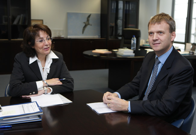 Maria Damanaki receives Stefán Haukur Jóhannesson, Head of mission of Iceland to the EU
