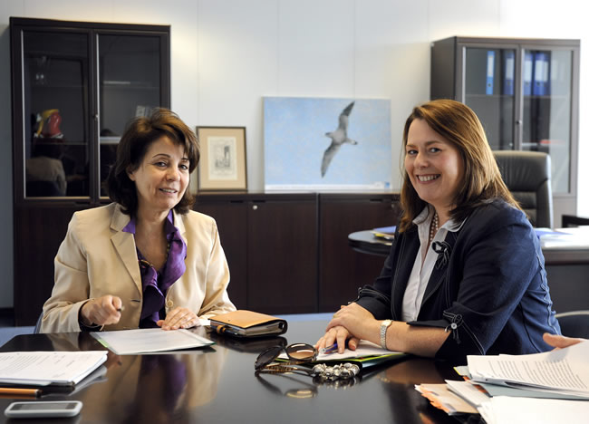 24/06/2010:  Maria Damanaki receives Mrs Michelle Gildernew, Minister for Agriculture and R