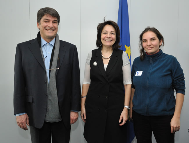 Maria Damanaki receives Anastasia Miliou, Manager and Head Scientist at Archipelagos, Institute of Marine Conservation, and Greek Ambassador in the EU for Sustainable Maritime Policy