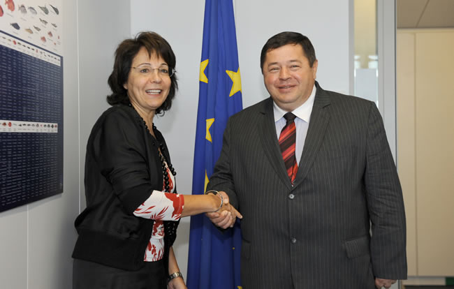 16/07/2010: Maria Damanaki receives Petar Cobankovic, Croatian Minister for Agriculture, Fisheries and Rural Development
