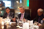 Karel De Gucht, 2nd from the left, has dinner with EU Business leaders