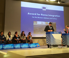 Award for Roma Integration in the Western Balkans and Turkey