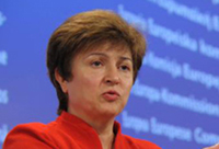 Commissioner Georgieva announces the increase in funding © EU