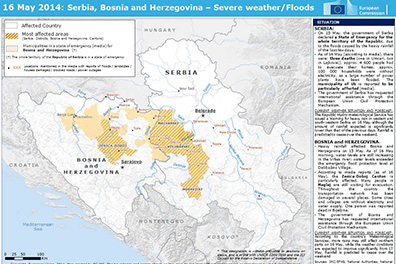 EU assists in response to floods in Serbia and Bosnia and Herzegovina
