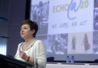 Commissioner Georgieva giving a speech at the 20th anniversary of ECHO (c) EU