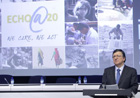 José Manual Barroso giving a speech at the 20th anniversary of ECHO (c) EU