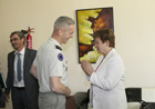 Kristalina Georgieva confers with French General Francois Lecointre, who commands 3rd Rima soldiers, French Special Forces in Mali © EU