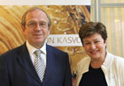 Commissioner Georgieva and Governor of the Bank of Finland, Erkki Liikanen © Kimmo Holopainen