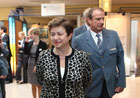 Commissioner Georgieva and representives from Germany's Federal Agency for Technical Relief (THW)