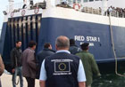 ECHO experts waiting for a ship carrying migrant workers and injured people from Misrata © EU