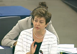 Italian MEP Elisabeta Gardini and Commissioner Kristalina Georgieva speak about European disaster response