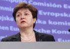 Commissioner Georgieva speaking at the press conference in Brussels © EU