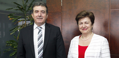 Michalis Chrysohoïdis, Greek Minister for the Protection of the Citizen and Commissioner Kristalina Georgieva © EU