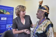 Fatou Ndeye Gaye, Gambian Minister for Forestry and Environment, and Connie Hedegaard