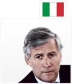 Antonio Tajani, Italie
