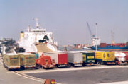 Logistic activities in a port