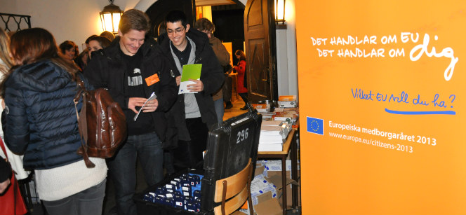 Participants arriving for the dialogue event in Gothenburg, Sweden. Photo: European Commission