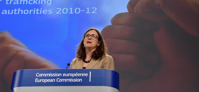 Commissioner Cecilia Malmström at the press conference in Brussels. Photo: European Commission