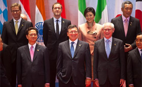 President Barroso at the ASEM (c) EU