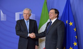 President Barroso and PM Monti