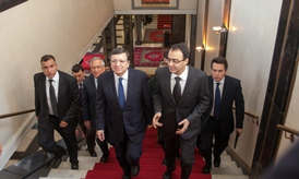 Karim Ghellab, Speaker of the Lower House of the Moroccan Parliament, and José Manuel Barroso