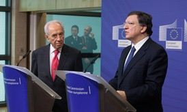 President Barroso and President of the State of Israel, Shimon Peres