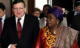 José Manuel Barroso and Nkosazana Dlamini-Zuma, Chairwoman of the AUC