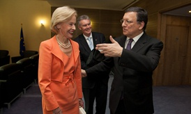 Quentin Bryce, José Manuel Barroso, and Duncan Lewis, Head of the Mission of Australia to the EU