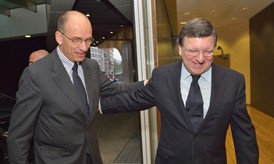 Pres Barroso and PM Letta