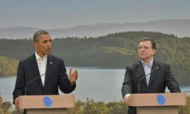 Presidents Barroso and Obama