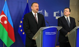 President Barroso with President Aliyev of Azerbaijan