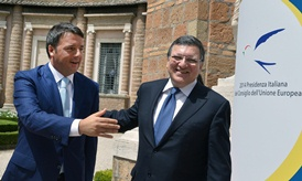 President Barroso and Matteo Renzi
