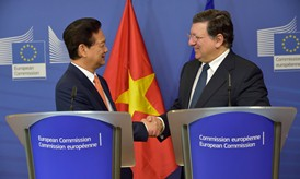 President Barroso welcomes the Prime Minister Nguyen Tan Dung