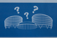 Sketch of the Council of Europe building with question marks © Council of Europe