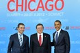 Anders Fogh Rasmussen, Jose Manuel Barroso and Barack Obama ©